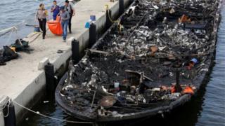 L'incendie a fait au moins 23 morts et 17 disparus.