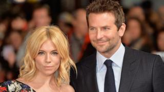 Sienna Miller and Bradley Cooper in London at the Burnt premiere