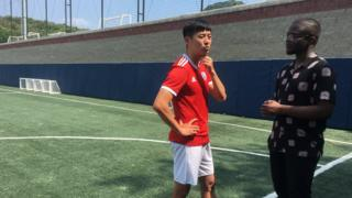 Son Heung-Yun and De'Graft during the interview