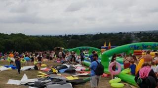 Water slide festival in Sheffield