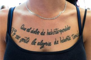 Tattoo on woman