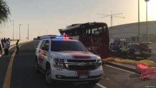 दुबई बस दुर्घटना