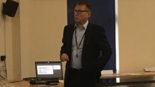 Karl Fenlon giving a presentation