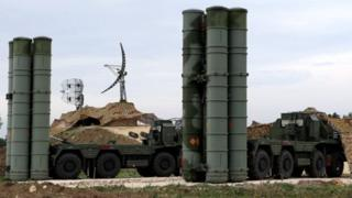 The S-400 missile system was deployed at Russia's Hmeimim airbase in Syria