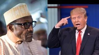 Shugaban Najeriya Muhammadu Buhari da na Amurka Donald Trump