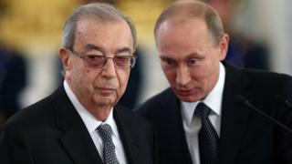 Yevgeny Primakov y Vladimir Putin.