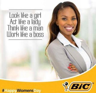 Advert for Bic South Africa that drew criticism online - August 9 2015
