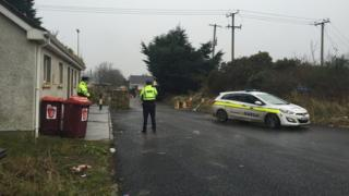 Police were called to the scene during the eviction dispute in Dundalk