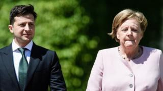 Volodimir Zelenski i Angela Merkel