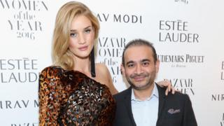 Rosie Huntington-Whiteley and Nirav Modi pictured together in 2016