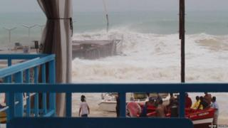 hurricane fred hits Cape Verde