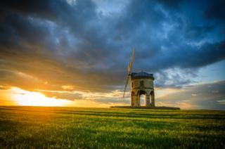 Sunset over Chesterton Windmill