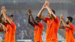 Medipol Başakşehir takımı futbolcularının tur sevinci