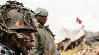 Soldat congolais.