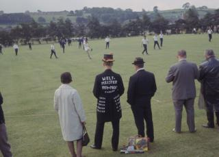 The West German squad training at Ashbourne, Derbyshire, during the 1966 World Cup in England