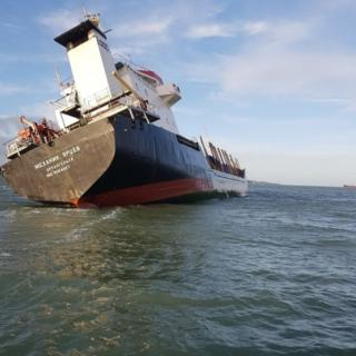 Mekhanik Yartsev stricken in Solent