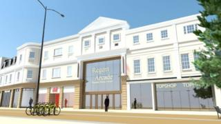An artist's impression of the new Regent Arcade entrance