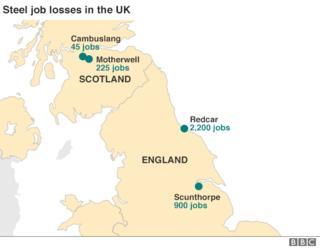 Map of job losses