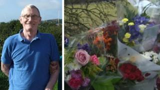 Anthony Steel and floral tributes