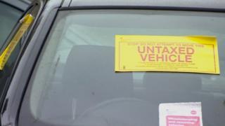 Untaxed vehicle