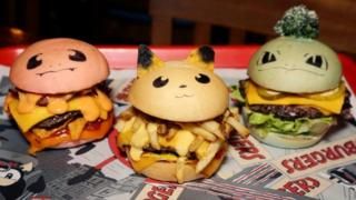 A burger restaurant in Australia has created Pokemon-inspired burgers featuring Pikachu, Bulbasaur and Charmander. Designed to appeal to Pokemon Go fans, the Bulbasaur burger has lots of leafy greens, Pikachu has lots of cheese to match his yellow colour and Charmander has spicy salt salsa.