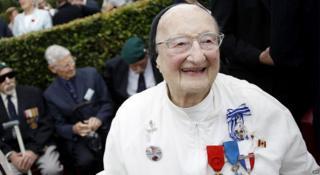 Sister Marie-Agnès Valois at 98