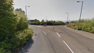 Dullatur roundabout in Cumbernauld