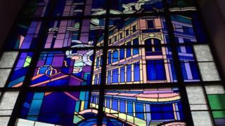 El vitral de la Villa Blue