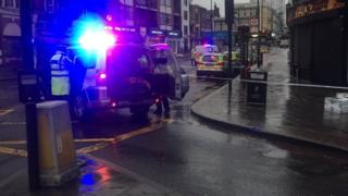 The scene of the crash on Norwood Road/South Circular Road