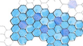 Blue quilt - water