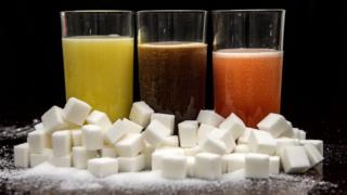 Sugar cubes and drinks