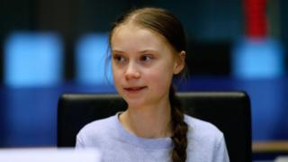 Greta Thunberg speaks a meeting at the European Parliament in Brussels on 4 March, 2020