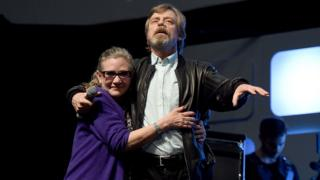 Mark Hamill with Carrie Fisher in 2016