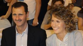 Shugaban kasar Syria Bashar al-Assad da matarsa Asma a Damascus, a ranar 5 ga watan Satumba shekarar 2010