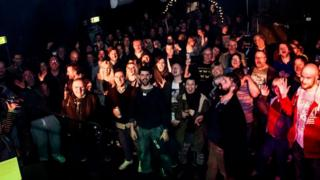 Audience at Joiners fundraising gig