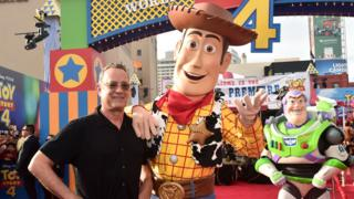 Tom Hanks, Woody and Buzz