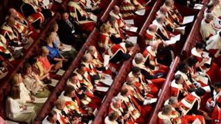House of Lords benches