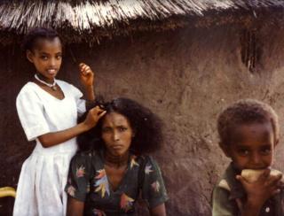 سوڈان میں مقیم ایک ایتھوپیائی یہودی خاندان