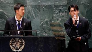 The UN general debate opened with K-pop band BTS, followed by a speech about sustainable development.