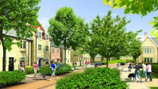 Artist's impression of Dissington Garden Village