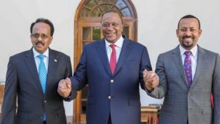 The Ethiopian prime minister Abiy Ahmed helped mediate between the presidents of Somalia and Kenya