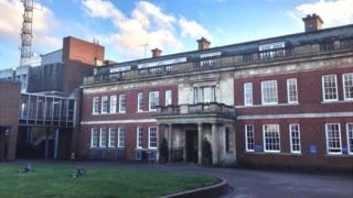 Northamptonshire Police HQ at Wootton Hall Park, Northampton