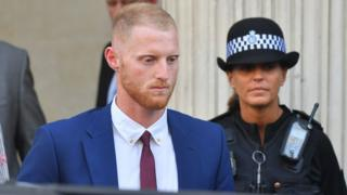 Ben Stokes leaving court