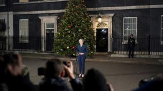 Theresa May in Downing Street
