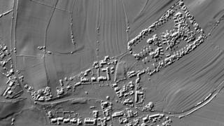 Ancient fields north east of Edmundbyers as shown using LiDAR