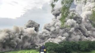 The Fuego volcano in Guatemala