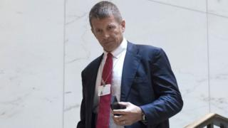 """Erik Prince, seen here in Washington DC in 2017, says he has """"no knowledge"""" of the preliminary deal"""