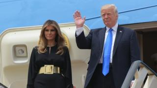 دونالد ترامپ و همسر او