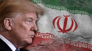 Tramp i iranska zastava
