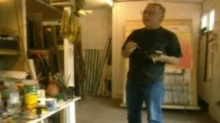 John Selway pictured in his studio in 1996
